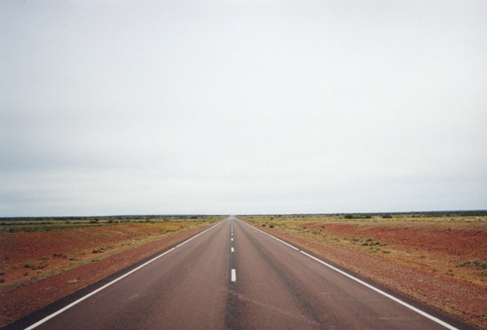 The outback area of Australia is vast